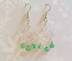 $89.95 ~ Real Emerald Jewelry ~ May Birthstone, Christmas Gift For Mom ~ Sterling Silver & Hand Carved Emerald Gemstone Earrings ~ Bridesmaid Jewelry ~ Use discount code PIN10 for 10% off in my Etsy shop :)