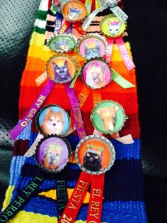 Rey Gato y Rey Perro Medals made by Anna-Laura Block for Fiesta San Antonio!