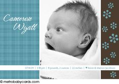 Photo Birth Announcements :: Cameron Design