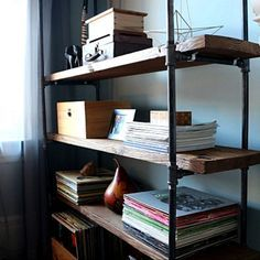 How to Make a Freestanding Industrial Pipe Bookcase | eHow Home | eHow