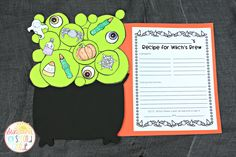 Halloween writing craftivity - Witches Brew. How-to writing, narrative, AND persuasive!!