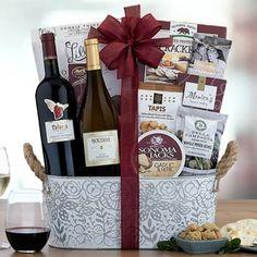 Wine Gift Baskets - California Duo Wine Gift Basket