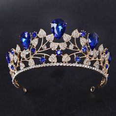 Cheap tiara jewelry, Buy Quality tiara free directly from China tiara store Suppliers: New Arrival Magnificent Blue Rhinestone Bridal Crown Tiaras Fashion Golden Diadem for Women Wedding Hair jewelry accessories Royal Tiaras, Royal Jewels, Tiaras And Crowns, Hair Jewelry, Wedding Jewelry, Jewelry Sets, Jewelry Accessories, Gold Jewelry, Jewelry Rings