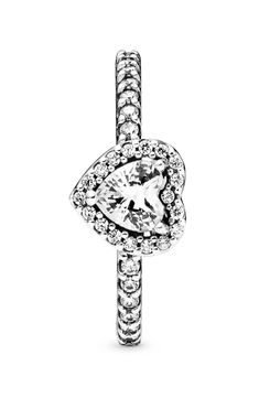 Pandora Rings Rose, Pandora Jewelry, Pandora Charms, Heart Ring Pandora, Promise Rings For Her, Anniversary Rings, Sterling Silver Rings, Engagement Rings, Sparkle