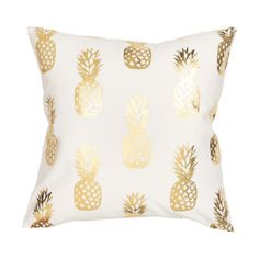 Bridesmaid gift idea - Matching Gold Pineapple Pillows {Courtesy of Chicfetti}
