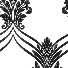 "Stripes and Damasks II 32.7' x 20.5"" Chandelier Sidewall Wallpaper   Wayfair"