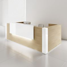 Add class and elegance to your work space with this simple yet elegant #reception #desk manufactured by #MDD #Office #Furniture at #sohomod