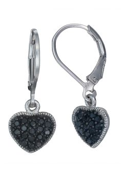 Vir Jewels 0.4Ct. Black Diamond Earrings In Sterling Silver - Beyond the Rack