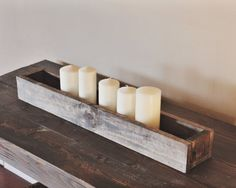 "Hand Made Rustic Flower Box - Table Centerpiece 30"" – Bushel Basket Home Decor"