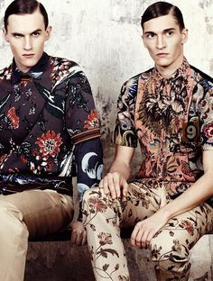 """l-homme-que-je-suis:  Matvey Lykov & Luka Badnjarin """"Luxe Spring Collections"""" Photographed by Tomas Falmer and Styled by KariHirvonen ..."""