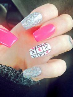 Super cute valentines day nails!
