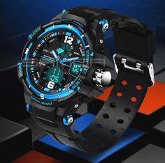 SANDA Fashion Watch Men Waterproof LED Sports Military Watch Shock Resistant Men's Analog Quartz Digital Watch relogio masculino That`s just superb!  #shop #beauty #Woman's fashion #Products #Watch