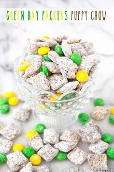 Green Bay Packers Puppy Chow – your favorite puppy chow with the addition of…