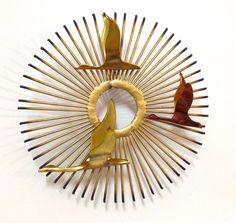 Mid Century Jere Sunburst and Birds Sculpture