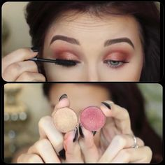 MAC Eyeshadows in Amber lights and Coppering ....with a blending brush blend equal amounts together on lid #beautiful #JaclynHill