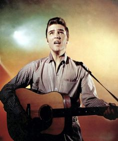 """Elvis began attracting attention with his music in 1954, when he was 19. He infused black rhythm-and-blues songs with his distinctive style, which came to include dance moves that were considered quite sexually suggestive for the time. In 1956, """"Heartbreak Hotel"""" became his first number one hit"""