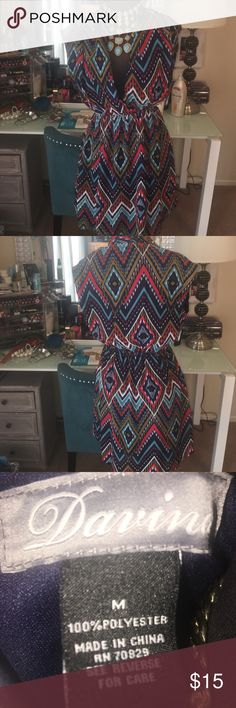 Very sexy low cut colorful dress Low cut colorful dress.  Wear with some cute sandals or high heels for a night out. Dresses Mini
