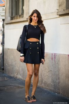 Sara Nicole Rossetto cropping it in Milan
