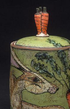 Hare Covered Jar. Lisa Naples.