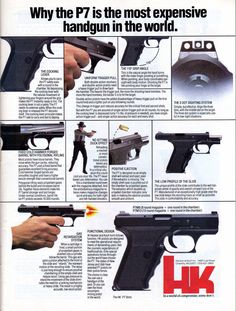 Commercial Art: A Look at Classic Firearms Print Ads - Part 3 - The Truth About Guns Heckler & Koch, Hk P7, Hunting Rifles, Guns And Ammo, Weapons Guns, Cool Guns, Curly Bob Hairstyles, Self Defense, Print Ads