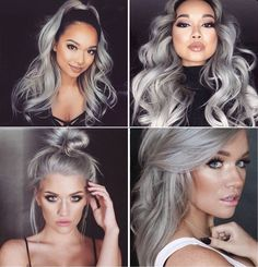 ~I've always loved silver/gray hair but idk if i can pull it off so~ S | Silver hair