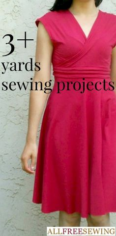 http://www.allfreesewing.com/Miscellaneous-Projects/Sewing-Projects-by-the-Yard