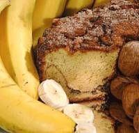 Banana Nut Coffeecake with Caramel Icing