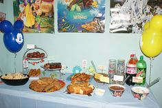 Disney World Themed party -- All the food has cute names!! I might steal some of these ideas...