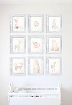 Conejo de conejito bosque Animal Print por HappilyEverAfterEtsy