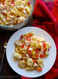 Simple Cheese Tortellini Pasta Salad with Lemon and Feta
