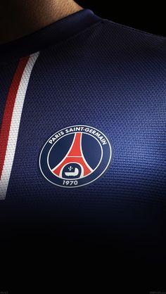 Download wallpaper: http://goo.gl/Ocv9hi ac61-wallpaper-psg-paris-saint-germain-fc-jersey-logo-soccer via freeios8.com - iPhone, iPad, iOS8, Parallax wallpapers