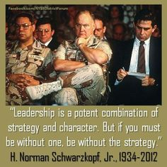 Leadership! and its relationship to character.