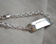 All Sterling Med Alert Bracelet  Double Sided  by ThoughtBlossoms, $80.00