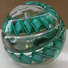 INCREDIBLY Intriguing MURANO Art GLASS Paperweight BIG Twisted RIBBONS Vintage
