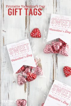 Simple and sweet- printable Valentine's Gift Tag from Crafting E. Make someone's day with these cute tags!