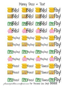 Free Printable Shopping Cart Stickers for Planner | Free ...