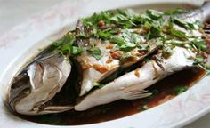 Steamed Pompano with Ginger-Soy Sauce recipe