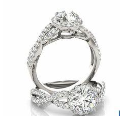 Infinity Twist Diamond & Forever Brilliant Moissanite by GNGJewel