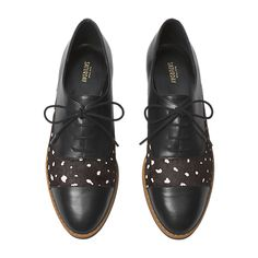 LEATHER OXFORDS IN DEER DOT HAIRCALF - Kate Spade Saturday