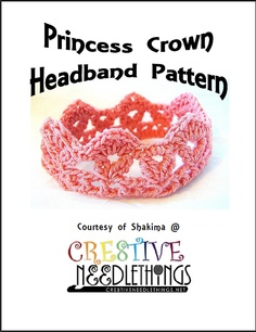 Ravelry: Princess Crown Crochet Headband Pattern pattern by Shakima Franklin