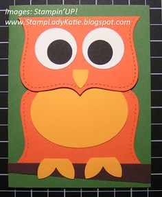 Owl Card made with the Big Shot Top Note Die