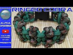 How To Make Paracord Bracelet Ringed Cobra - YouTube
