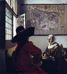 Militar y muchacha riendo (1658).