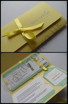 Destination wedding invitation in Lemon and green. Inviting you Bespoke invitation, you MUST pay them a visit!
