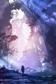 ArtStation - Leave It Behind, John Sommo Fantasy Concept Art, Dark Fantasy Art, Fantasy Artwork, Fantasy Art Landscapes, Fantasy Landscape, Landscape Art, Fantasy Background, Art Background, Anime Scenery Wallpaper