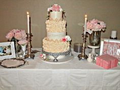 Wright Wedding - Cake by Ann-Marie Youngblood