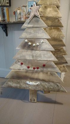 Reclaimed pallet wood Christmas Tree Reclaimed by BoxedCreativity