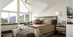 Simple master bedroom design with unique ceiling design.-Home and Garden Design Ideas