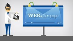Video Advertising Banner with Man PSD Mockup Free