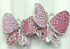 Double Pink Butterfly Ring/Pale Pink/Dusty by victoriascharms